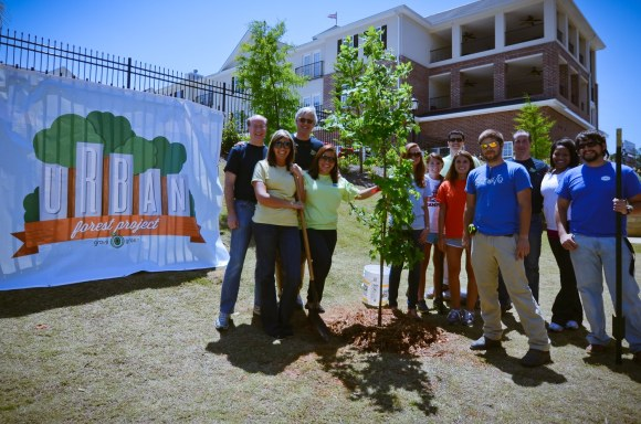 Ted Rollins & Grove Green Team Celebrate Arbor Day