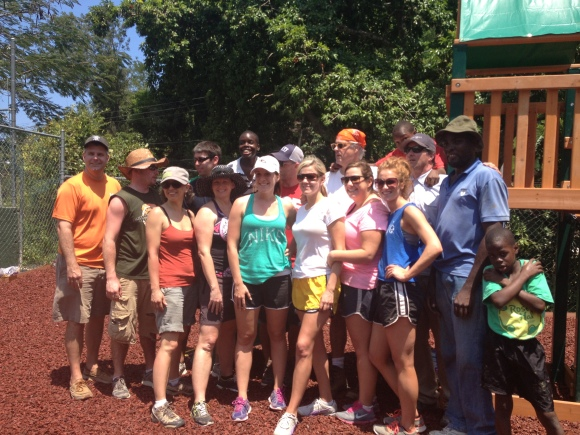 Ted Rollins and Campus Crest Build Jamaica Orphanage Playground